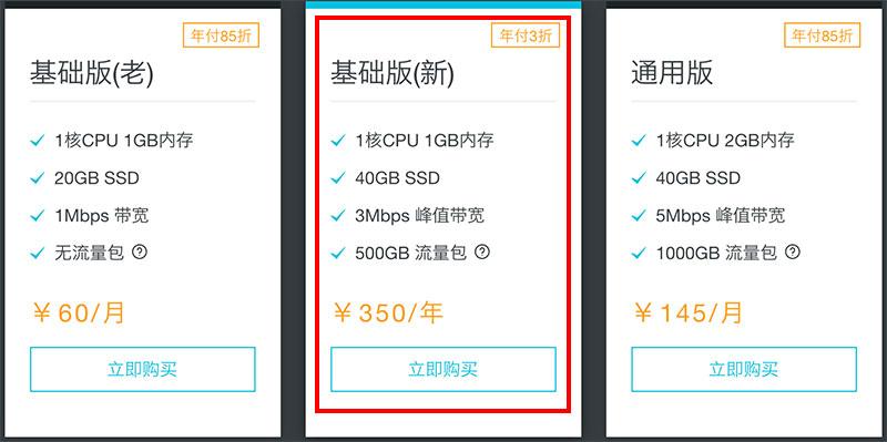 阿里云轻量应用服务器优惠年付3折350元一年-阿里云轻量应用服务器